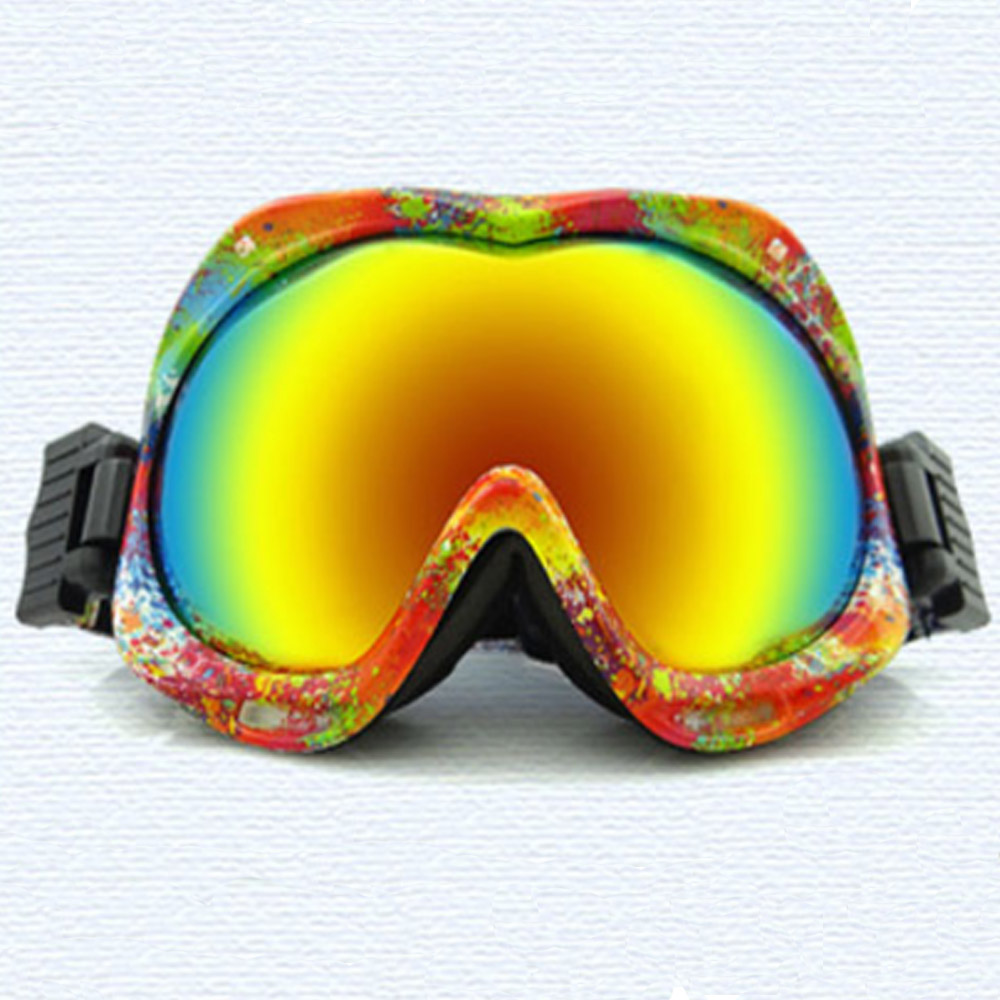 2016 New Brand Double Layer Tablets Snowboard Goggles Anti Fog UV400 PC Lens Print Comfortable Skiing Eyewear 7 Colors(China (Mainland))