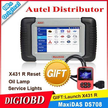 100% Original Autel DS708 Automotive Diagnostic and Analysis System Live data ECU programming ALL electronic systems+Gift X431 R