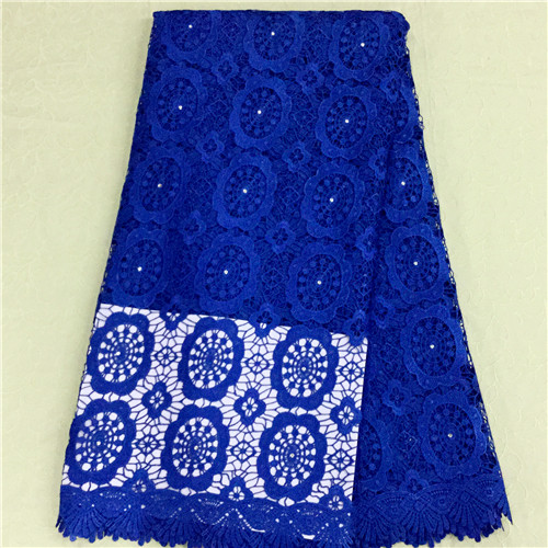 Beautiful blue lace high quality african cord lace fabric online,good price african guipure lace in stock 5485-3