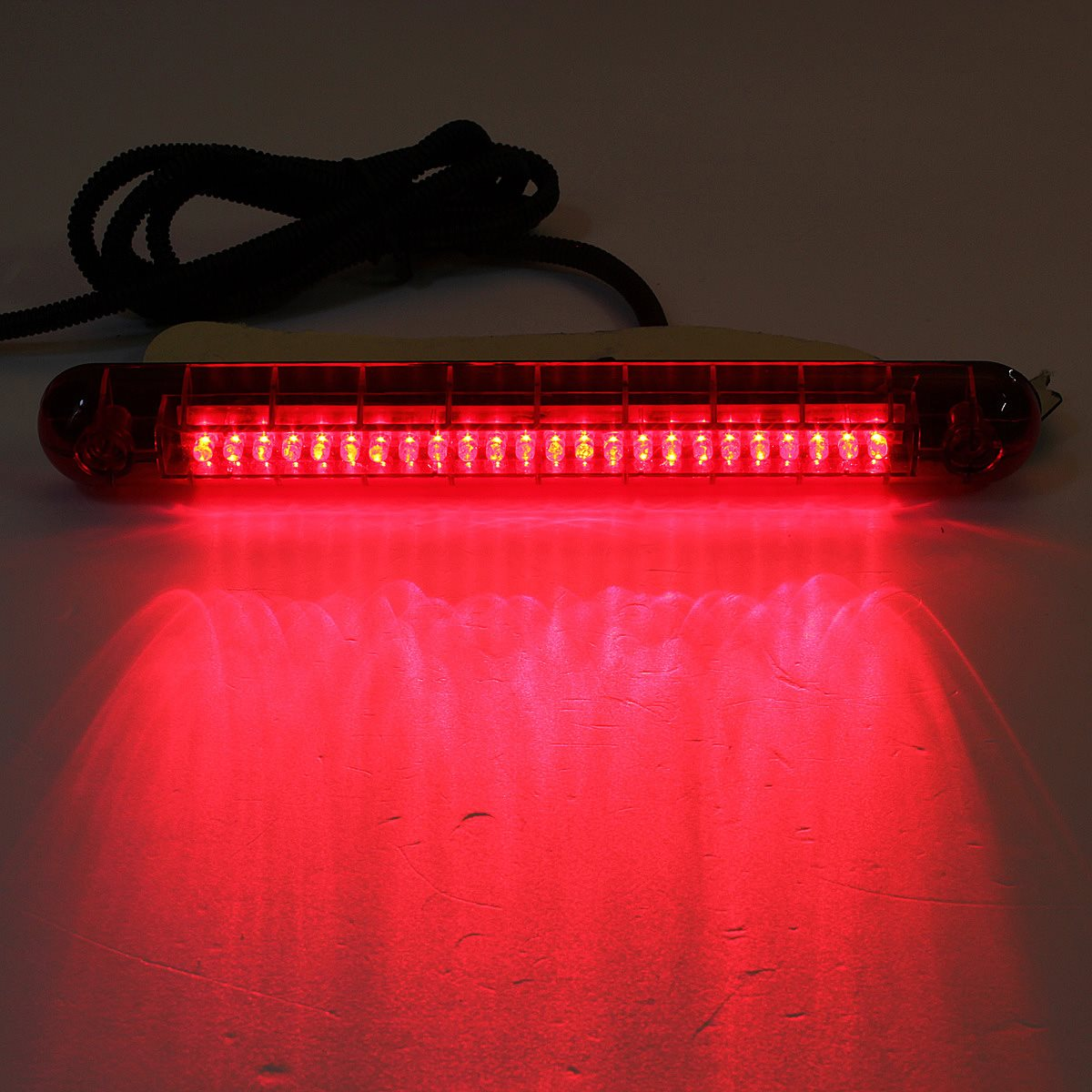 2015 New Universal Car SUV Auto 12V 24 Red LED High Mount Third 3RD Brake Tail Light Lamp(China (Mainland))