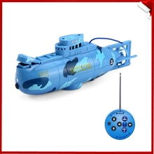 Create Toys 3311 Mini RC Submarine 3CH Remote Control Toy With USB Cable Blue Yellow Christmas Children Kids Birthday Gift(China (Mainland))