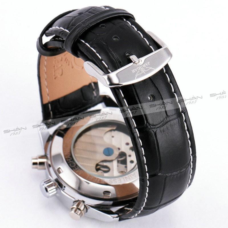 Победитель механические мужчины женщин часы кожаный ремешок датой автокалендарь суб-оптовая суб-набор 3 аналоговый дисплей моде + коробка