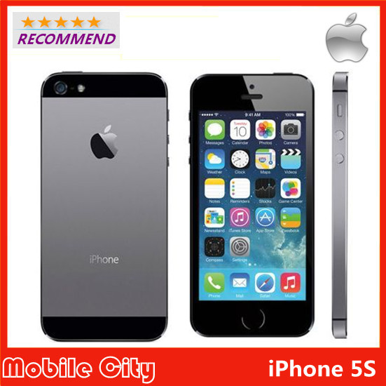 """iPhone 5S Factory Unlocked Original Apple Refurbished Cell Phone iOS 8 4.0"""" IPS HD Dual Core A7 GPS 8MP WIFI 64GB Free Shipping(China (Mainland))"""