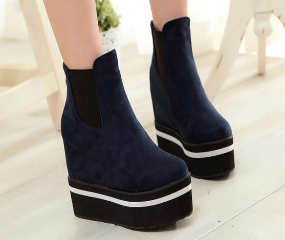 Customized Small Size 31 32 33 47 46 45 44 Plus Size Women Autumn Winter Boots Girls Platforms High Heel Shoes Lady Flock Pumps(China (Mainland))
