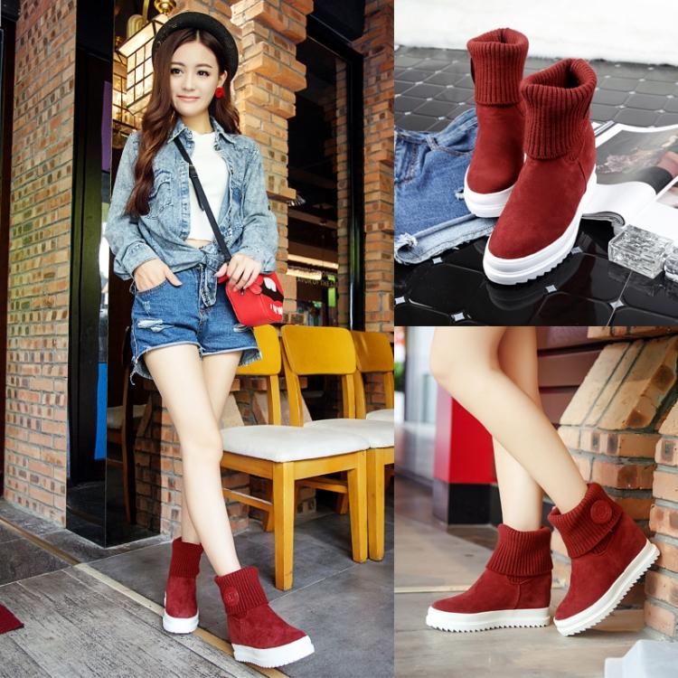 Fashion female lolita girls student uniform boots Harajuku scrub velvet yarn tube boot princess round toe flat short snow boots(China (Mainland))