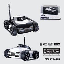 The new hot WiFi 777-287 remote control tank spy tank car real-time transmission camera Free shipping(China (Mainland))