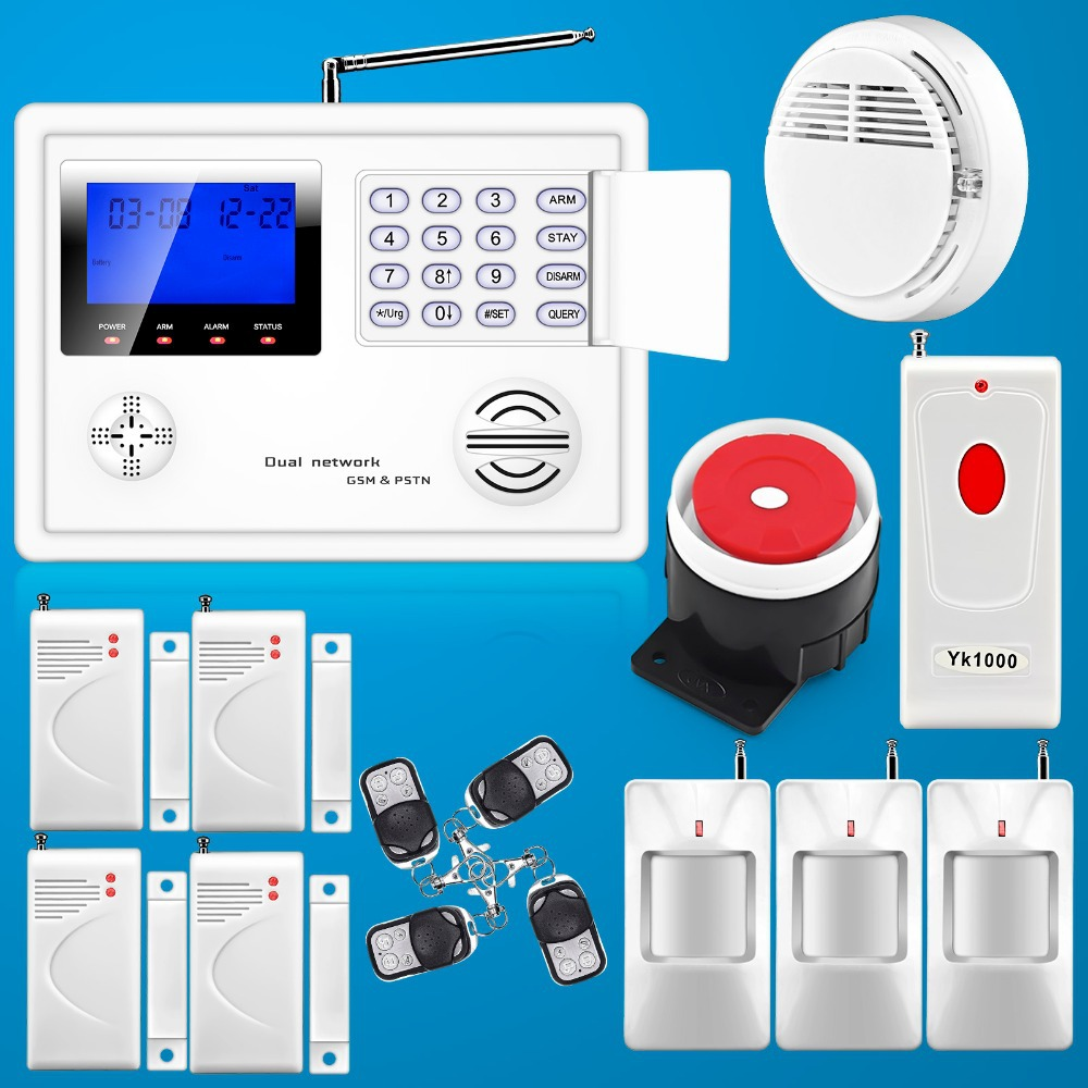 Здесь можно купить  Free Shipping! Wholesale 99 Wireless Zone GSM PSTN Dual Network Burglar Home Security Alarm System Auto Dial Motion Free Shipping! Wholesale 99 Wireless Zone GSM PSTN Dual Network Burglar Home Security Alarm System Auto Dial Motion Безопасность и защита
