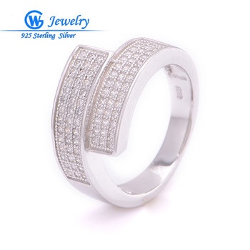 silver rings 925 brand wedding silver 925 ring aliexpress engagement wedding ring set GW Fine Jewelry FRITV003