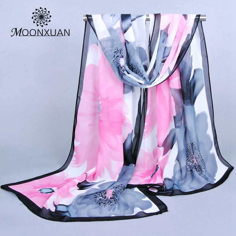 ladies' voile Scarves hot! 2016 New Fashion Big flower scarf flowers chiffon scarf thin section Bohemia silk scarves wholesale(China (Mainland))