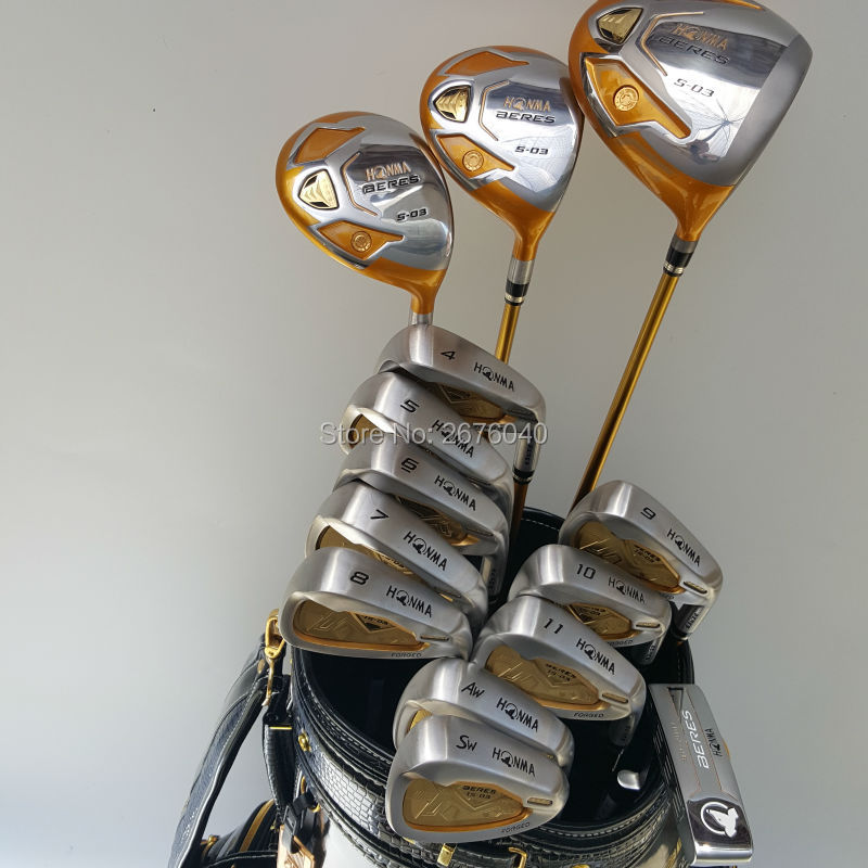 New Golf clubs HONMA S-03 4star Compelete club set Driver+3/5 fairway wood+irons+putter and Graphite Golf shaft No ball packs(China (Mainland))
