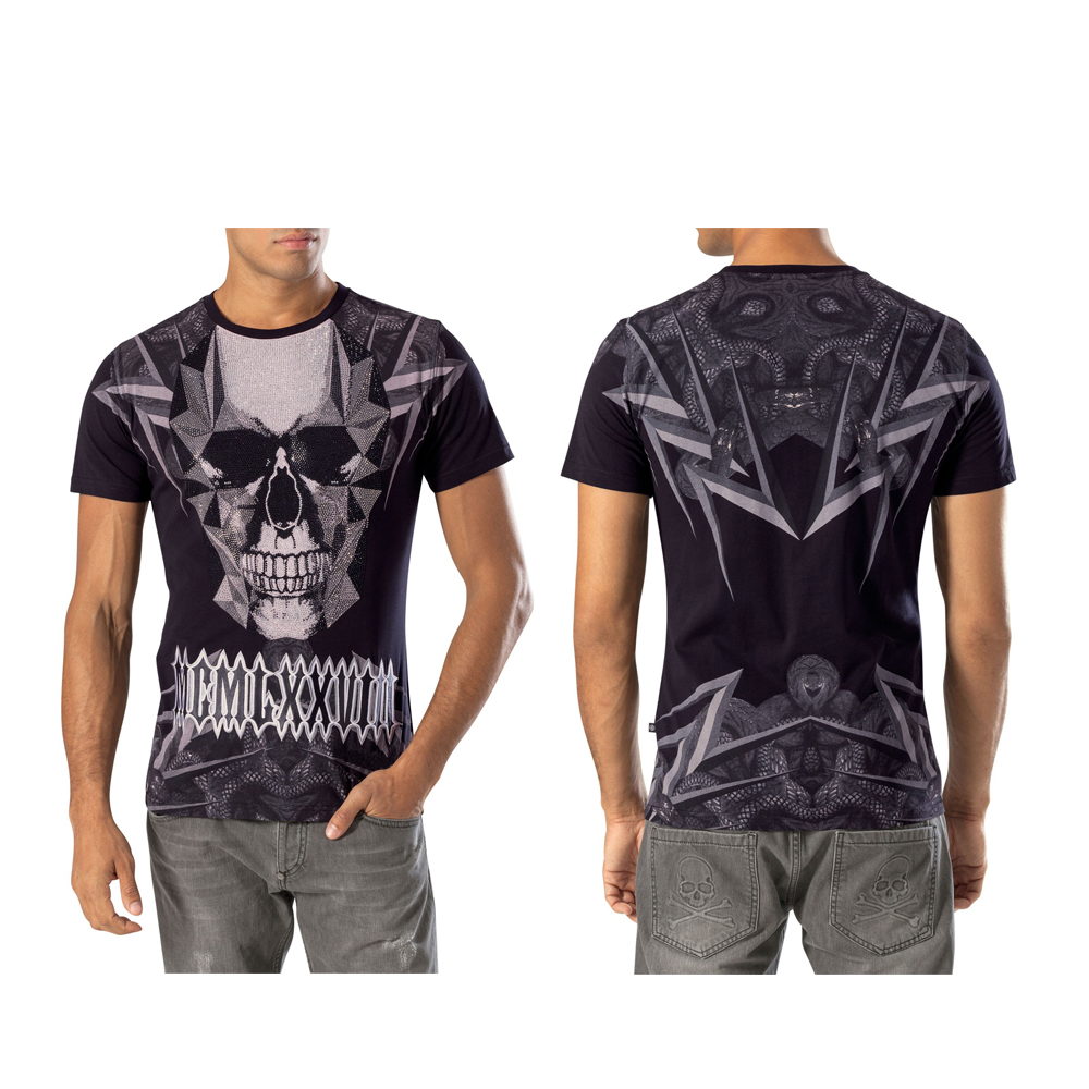 mens t shirts cool diamond skulls tattoo graphic printed t