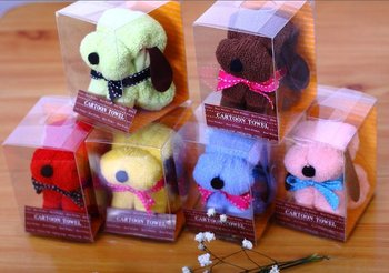 Free Shipping lovely Snoopy dog shape cake Towel  flower Wedding Christmas Valentines Birthday gifts