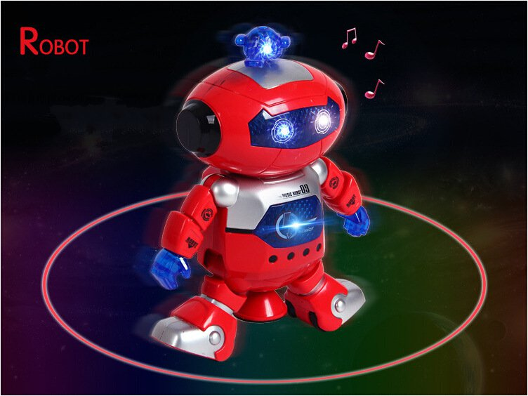 The Star Dancer Dancing Robot Toy with Light and Music Creative Children's Toys Kid Electronic Toys 360 Degree Rotating Robot(China (Mainland))