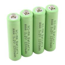 4 X 1.2V Ni-MH AAA 1300mAh Rechargeable 3A Neutral Battery #19545(China (Mainland))