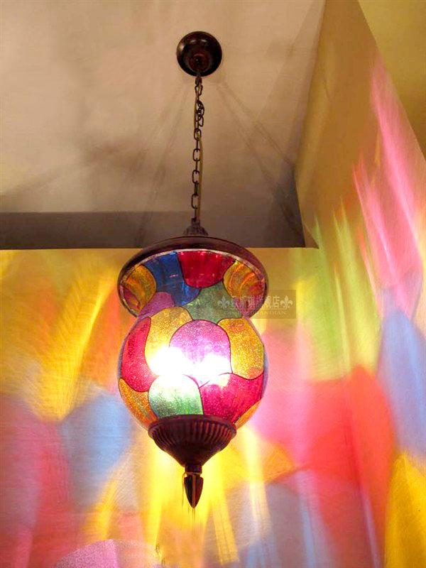 aliexpresscom buy lighting bohemian art glass foyer chandelier southeast colorful decorative lights pendant lamps bar bar from reliable lighting bedside bohemian lighting