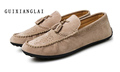 2017 Luxury Men Loafers Genuine Leather Casual Sandals Flat Shoes Slip On Moccasins Men s Flats