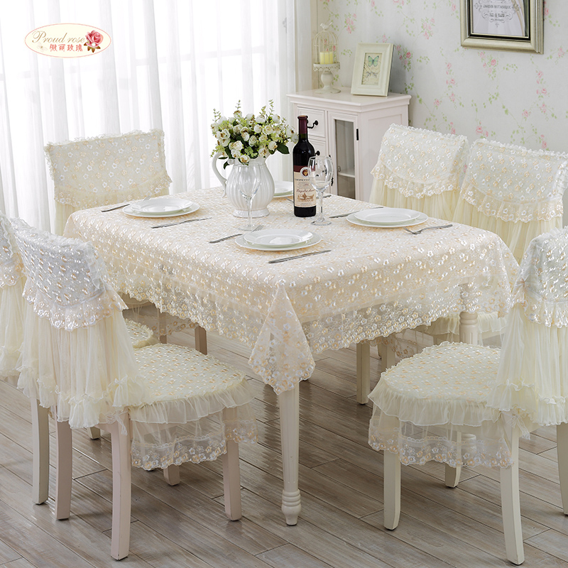 1 Piece European Rural Lace Table Cloth/ Lace Tablecloth Chair Cover/ Modern Household Adornment Tablecloth Chair Cushion(China (Mainland))