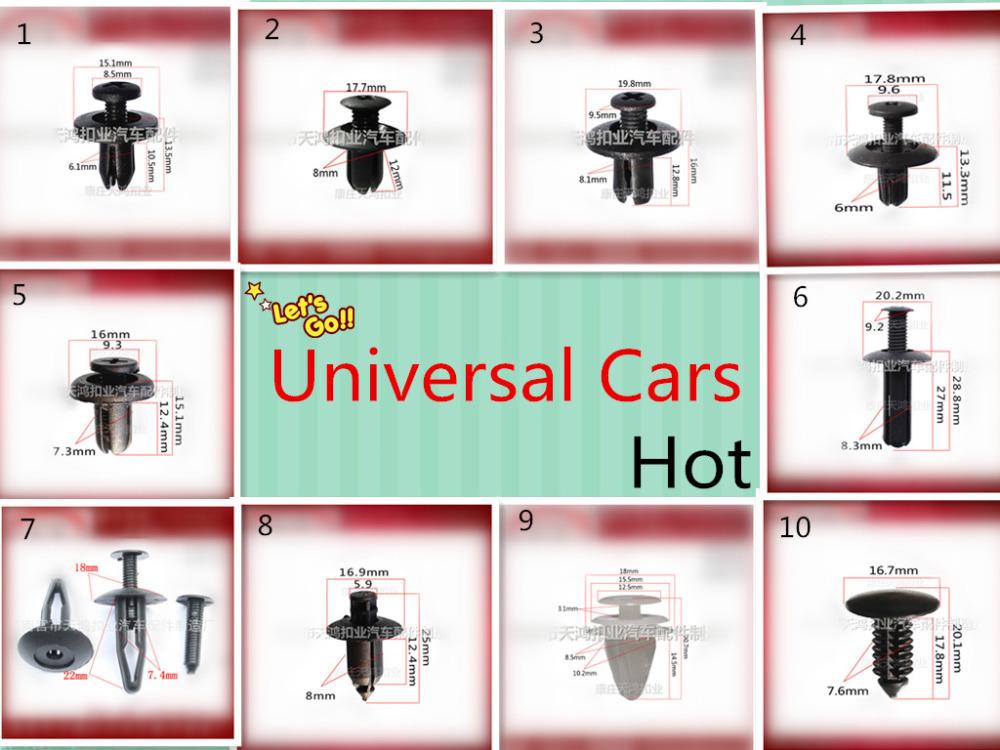 20PC Door, bumper, fender, cover ,Toyota Renault VW automotive fastener plastic auto fastener clip rivet,auto fasteners for cars(China (Mainland))