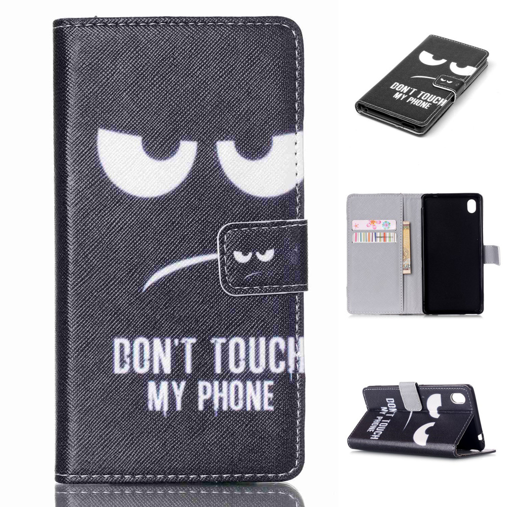 Hot Selling Cover For Motorola Moto E /E2/G3/Nexus 6 Flip Case Black Eyes Leather Wallet Case For Sony Xperia Z5/Z3/E4G/M4 Aqua(China (Mainland))