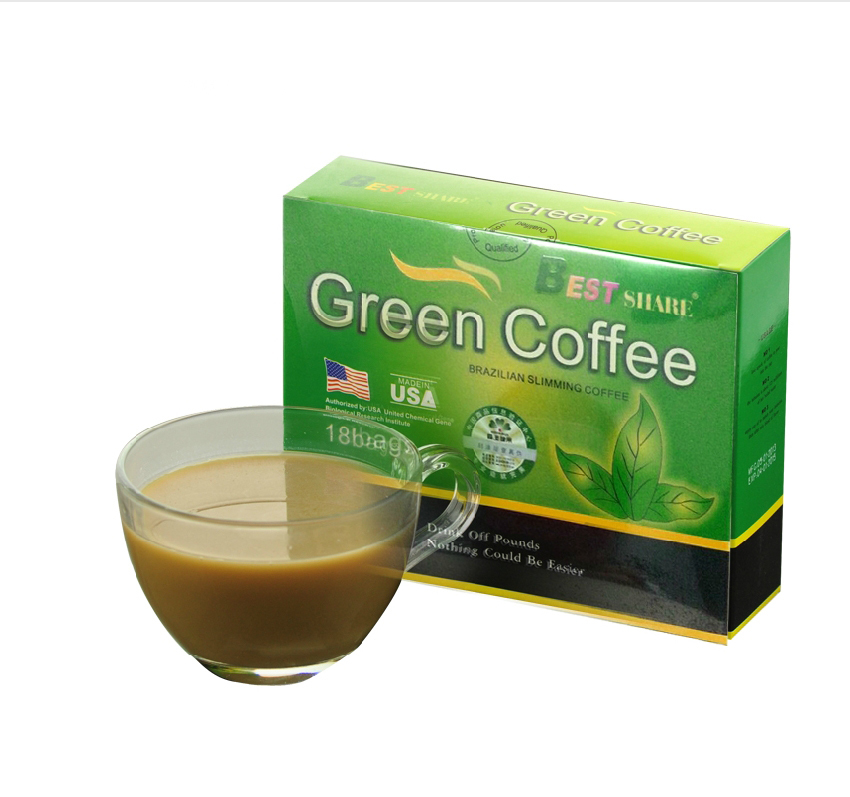 2014 new Green Coffee 800 puerh tea Lose Weight Coffee Slimming Coffee 5g 18bags fit tea