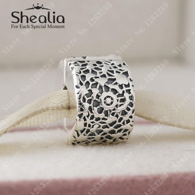 Подвески 2015 осенью новый кружева клип старинное серебро цветы клипы оригинал 925 ювелирных украшений подходит DIY браслеты