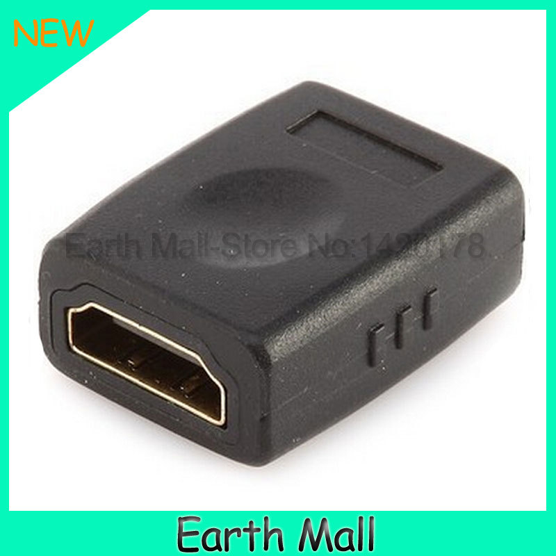 Female To Female HDMI Adapter Plug HDMI Extension cord Adapter Plug for 1080P HDTV/DVD/PC/laptop for hdmi adapter(China (Mainland))