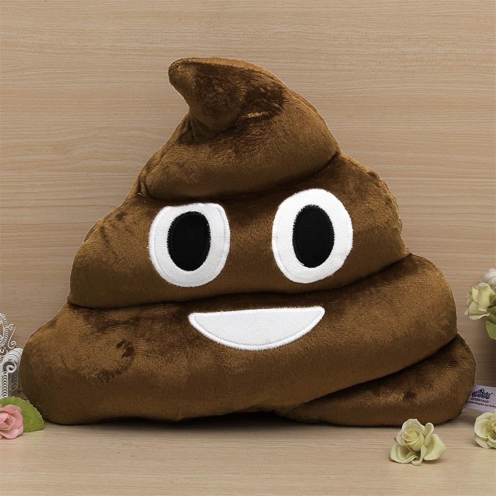 1 pcs Soft Coffee Smile Face Emoji Poo Shape Stuffed Pillow Doll Toy Best Gift Cushion Hot Selling(China (Mainland))