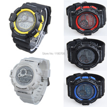 Fashion Digital watches Man Boy WristWatch Rubber Watchband Adjustable Casual Style