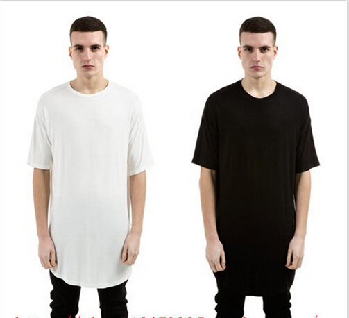 New Thumb Hole Cuffs Short Sleeve Tyga Swag Style Man High