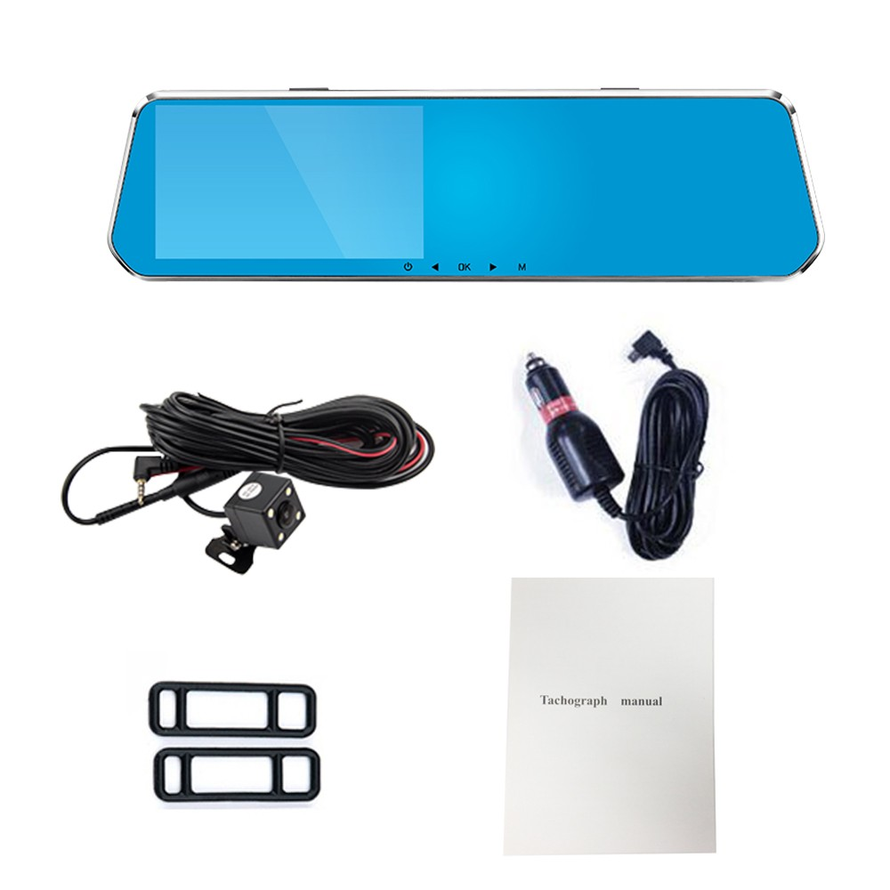 5.0 inch HD Rear View Mirror Car DVR Radar Detector 1080P Car Camera Recorder dash cam Night Vision Tachograph G-sensor