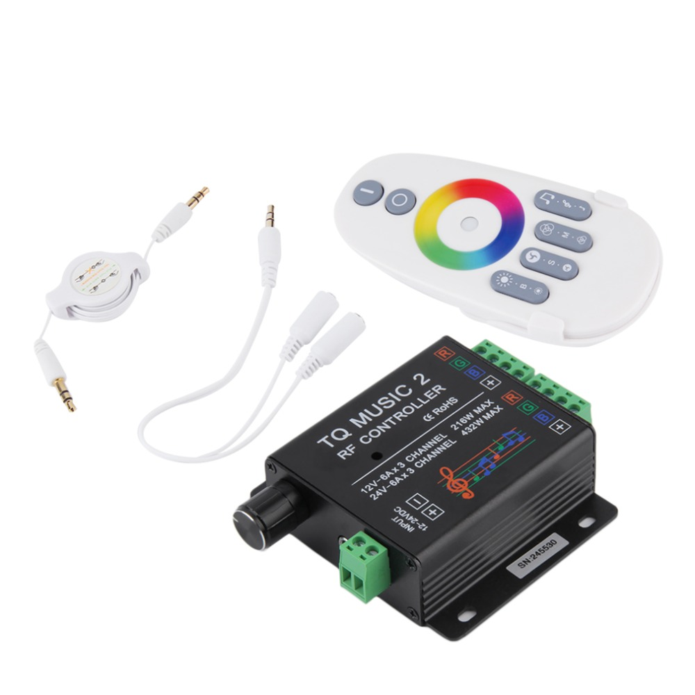 Sound Audio LED RGB RF Music Controller Touch Remote 2 Channel 12/24V 18A Popular New(China (Mainland))