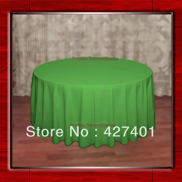"""Hot Sale  132"""" R Kelly Round Table Cloth Polyester Plain Table Cover for Wedding Events &Party Decoration(Supplier)"""