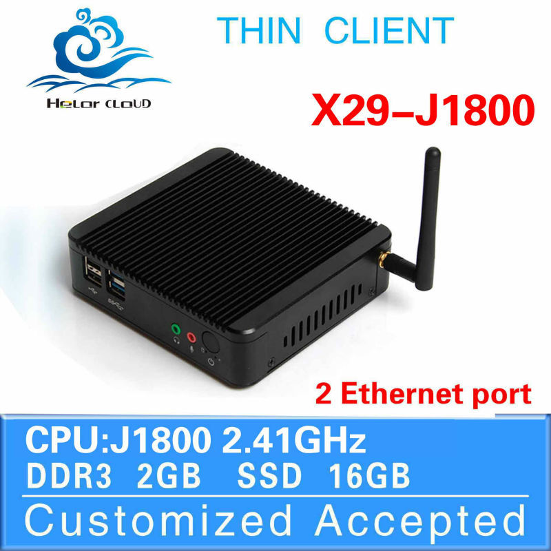 HLY X-29 J1800 Mini Computer Dual Core Dual Lan 2G ram 16g SSD Win7 All-Powerful Office PC Server Thin Client(China (Mainland))