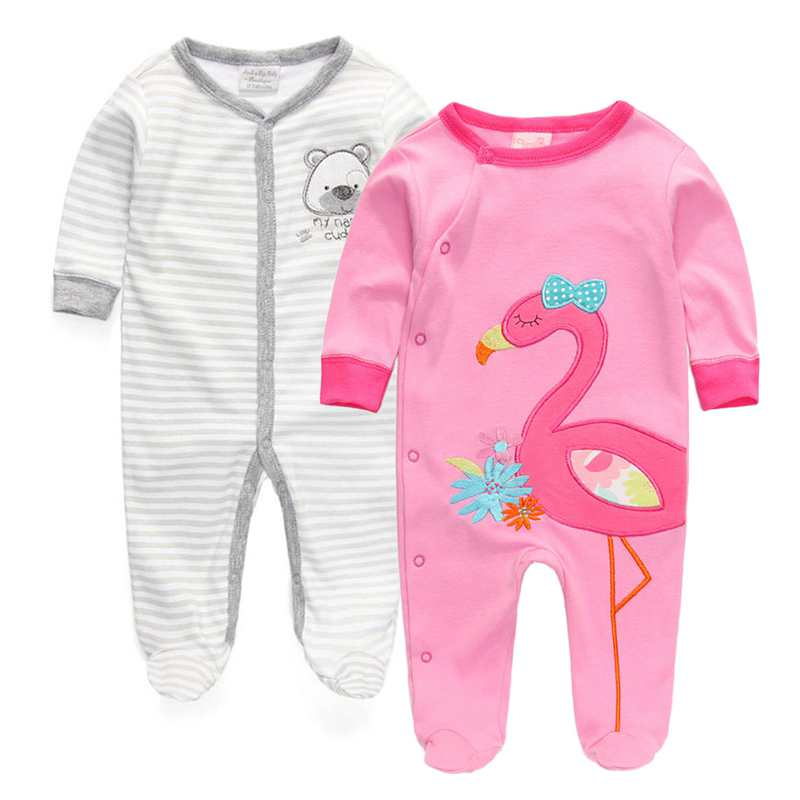 New 2016 2 Pcs/lot Baby Clothing Rompers Foot Cover Baby Girls Pajamas Romper Newborn Sleepwear Body suits One-piece 0-12 Months(China (Mainland))