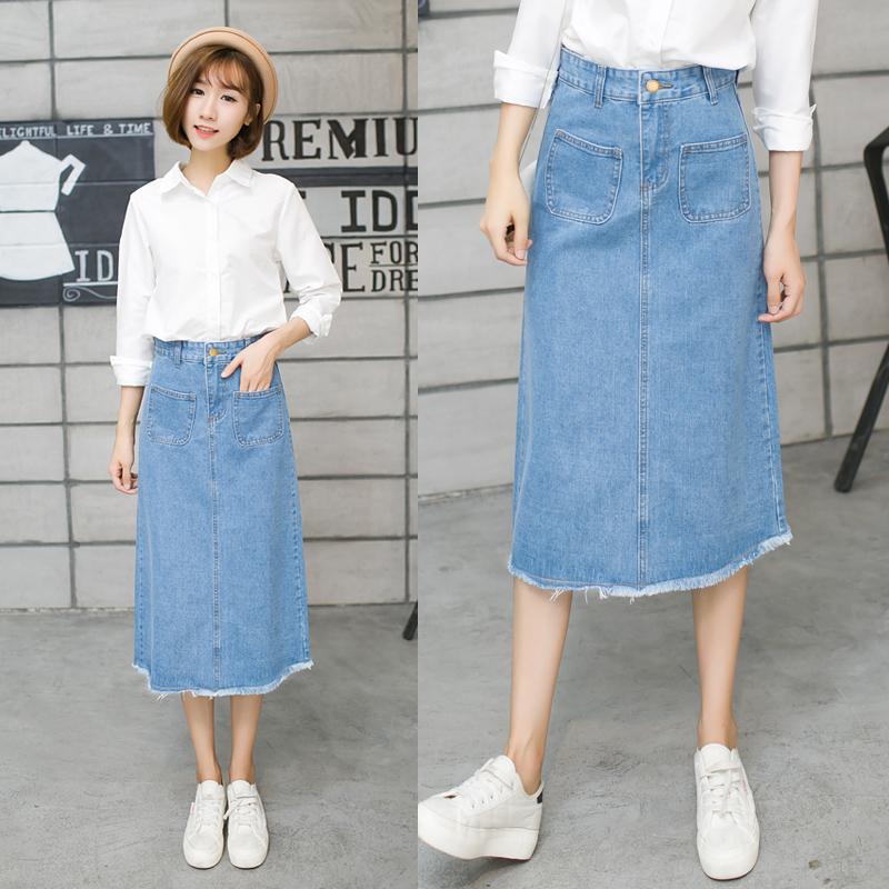 Popular Long Jean Midi Skirt-Buy Cheap Long Jean Midi Skirt lots ...