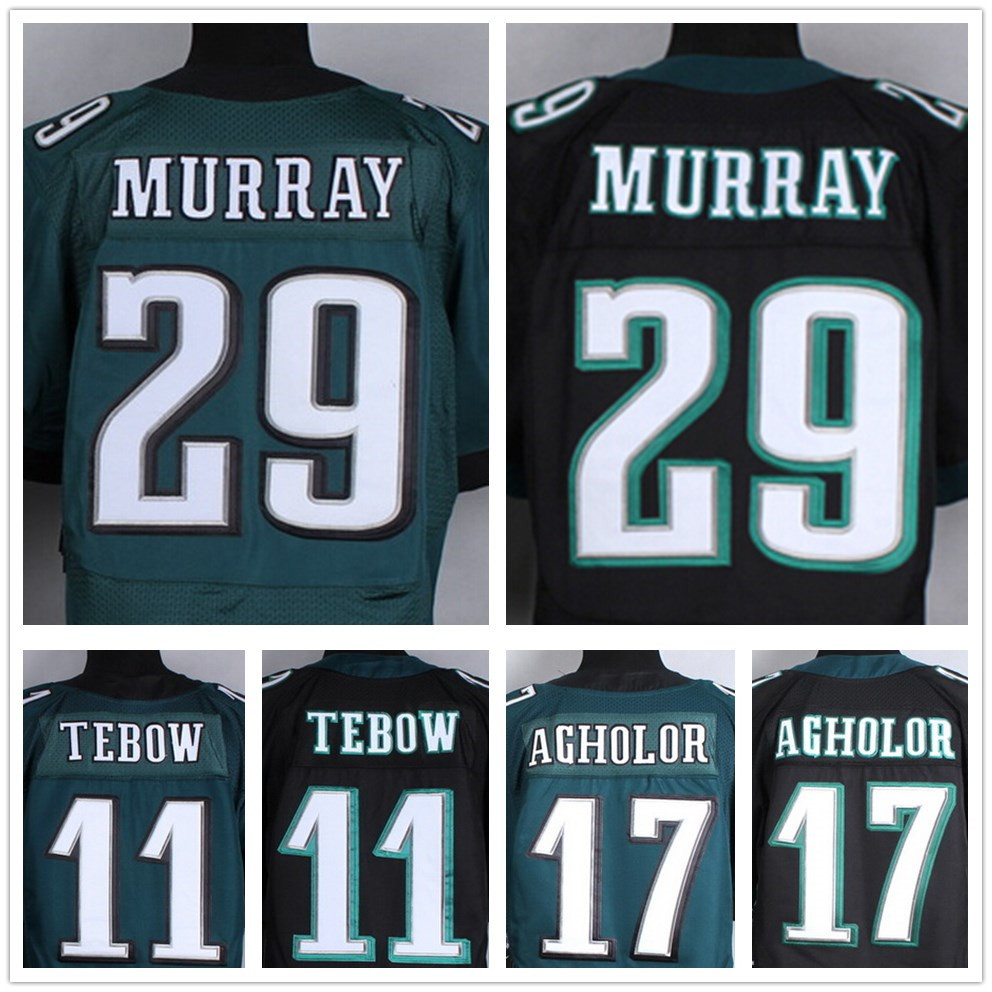 100% Stitiched #29 DeMarco Murray jersey football #17 Nelson Agholor jersey cheap elite #11 tim tebow jersey size S-XXL(China (Mainland))