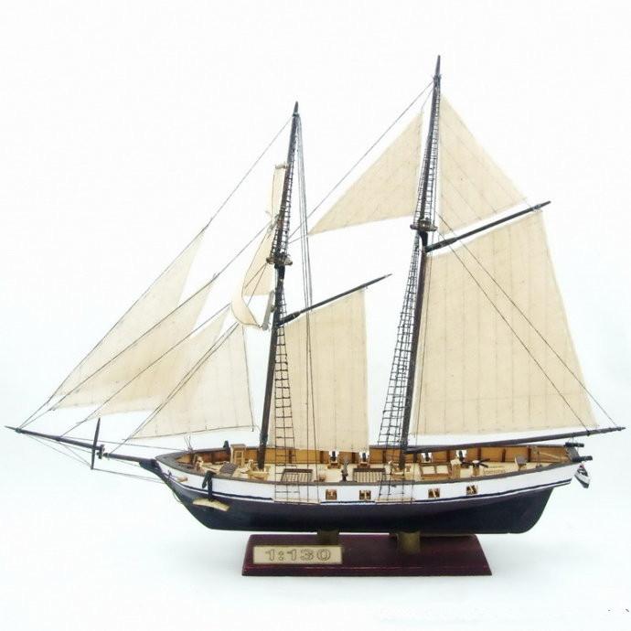 Free shipping Scale 1/130 HARVEY 1847 wooden ship model +8 pcs brass guns(China (Mainland))