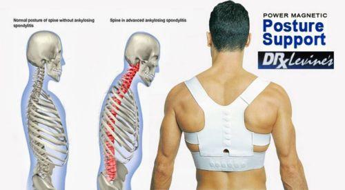Large Adjustable Power Back Support Correction Belt Posture Magnetic Shoulder(China (Mainland))