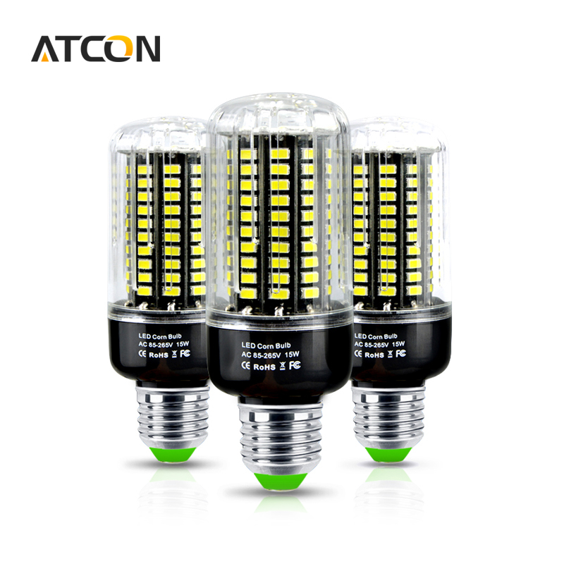 1Pcs Full Watt 3W 5W 7W 9W 12W 15W SMD 5733 E27 E14 LED Corn Bulb No Flicker Constant Current Design 85-265V LED lamp Spot light(China (Mainland))