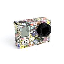 Caleidoscopio Parche Adhesivo de Montaje para Go pro Gopro HD Hero 3 3 + Caja de la Cámara Del Cuerpo Accesorios