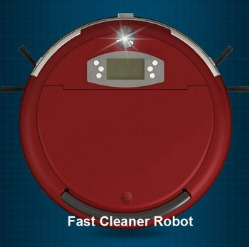 Free Shipping  2015 New Coming  Voice Robot Vacuum Cleaner With 2500MAH Battery ,0.7 Larger Dustbin Box,2pcs Side Brushes