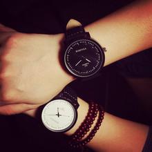 2016 New Fashion Japan Core High Quality PU Leather Quartz Watch Wrist Watch Gift for Women Men Boy Girls 1 Year Warrenty