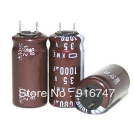 Резонатор Electrolytic capacitor Nippon KME 1000uF 35v 105C 13 x 25 2016 new 3300mf 35v radial electrolytic capacitor 35v 3300mf 16mm x30mm free shipping