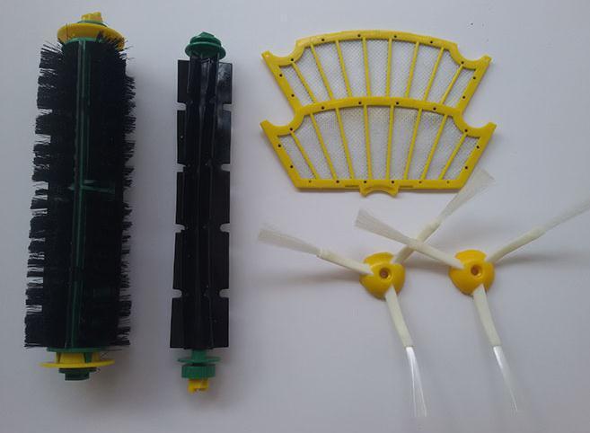 6pcs/lot Side Brush +Filter kit for Irobot Roomba 500 series 510 520 527 530 532 535 540 550 570 560 562 580 610 Replacment(China (Mainland))