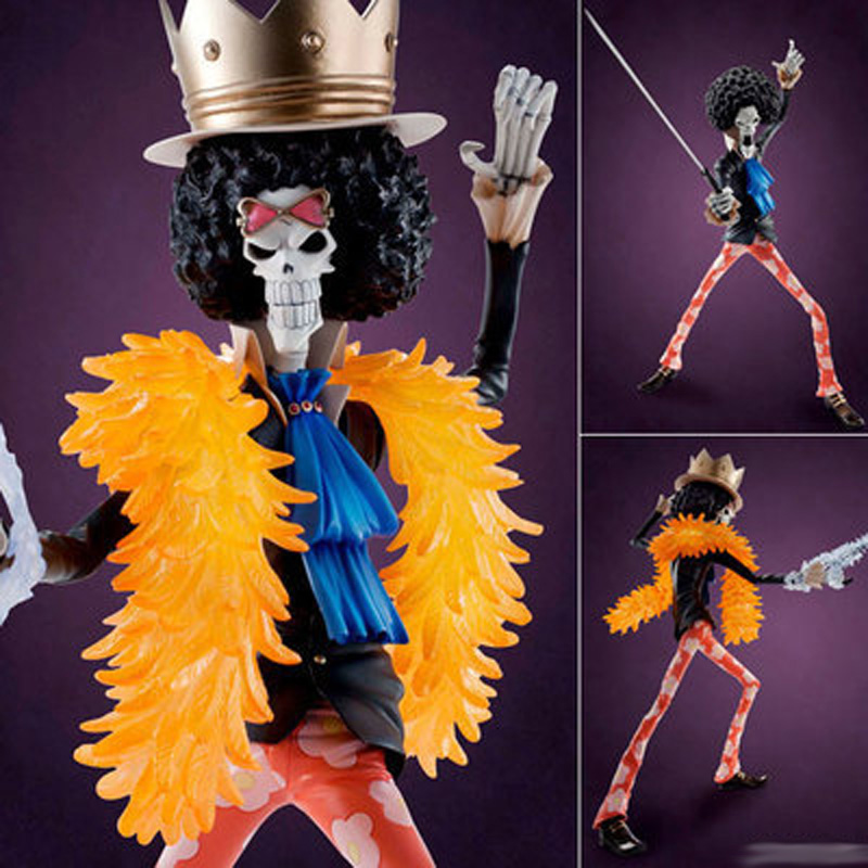 Anime Collectible figurines One Piece Brook MegaHouse POP PVC Motion Determine mannequin Toy 23CM