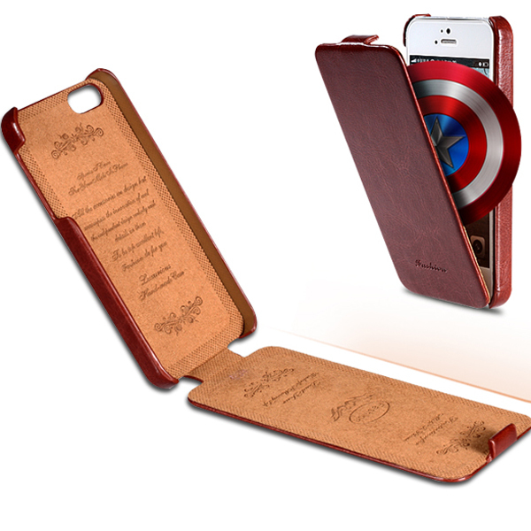 Slim Vintage Crazy Horse PU Leather Flip Case Apple iPhone 5C Full Protection FASHION Cover Phone Bags & Cases - Shenzhen RCD Technology Co., Ltd. store