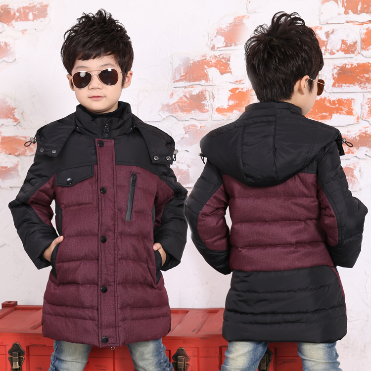 Childrens down jacket and long sections 2014 new boy boy down loaded thick winter clothing genuine special<br><br>Aliexpress