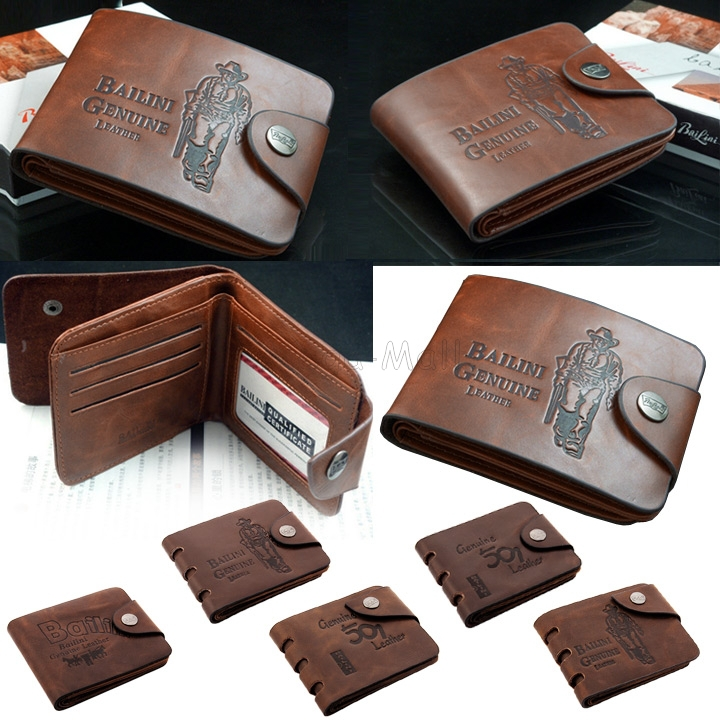 6 Style 2015 New Leather Wallet Men Wallets Classic Pockets Credit/ID Cards Male Purse Carteira Masculina Couro Bolsa P274 SJM(China (Mainland))