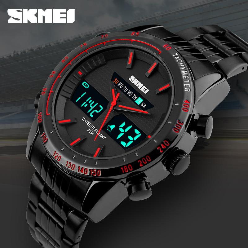 New SKMEI Men Chronograph Watch Men Sport Watch Full steel Case 5ATM Waterproof Date Luxury Business Watch relogio masculino<br><br>Aliexpress