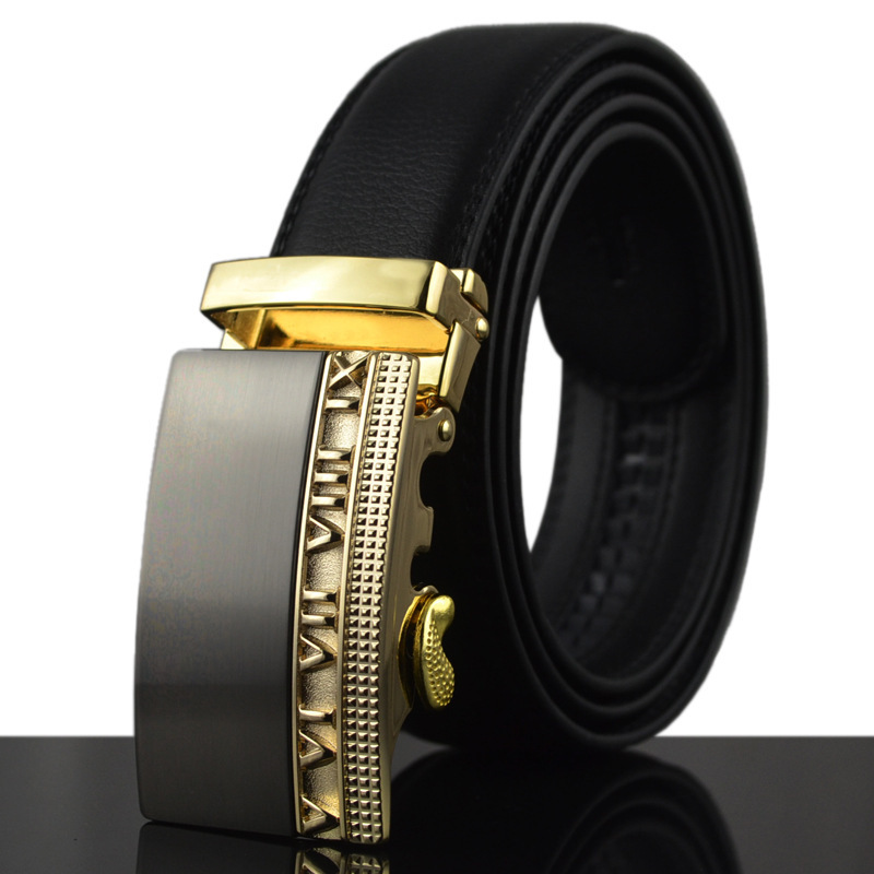 The new wearable genuine leather automatic buckle belt universal automatic buckle belt men's leather strap(China (Mainland))